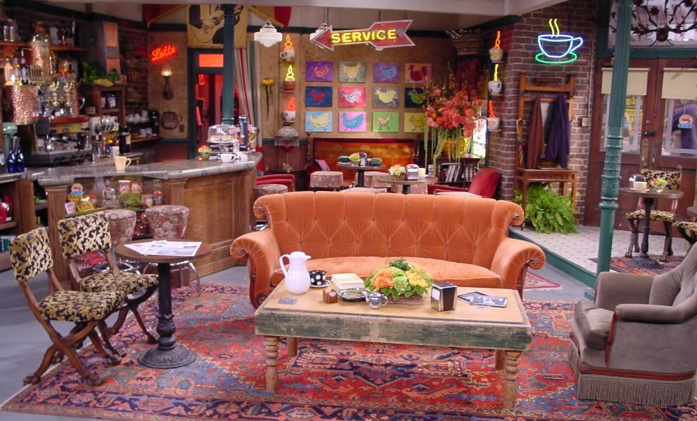 artwork at the central perk cafe from friends