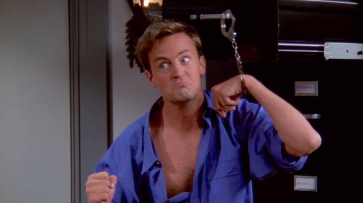 Chandler handcuffed