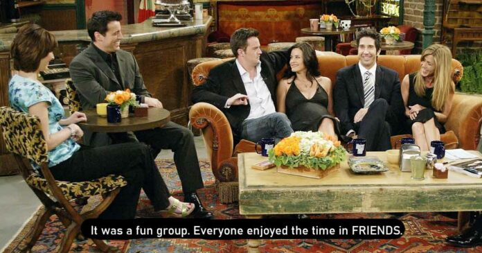 friends group was fun and they made many unscripted moments that were well received