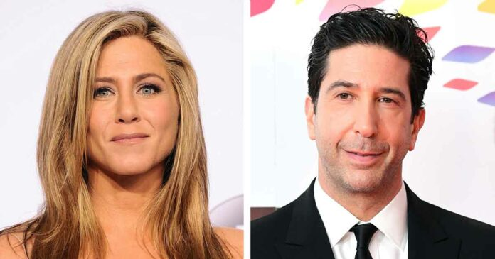jennifer aniston and david schwimmer from friends in the scenes fans liked