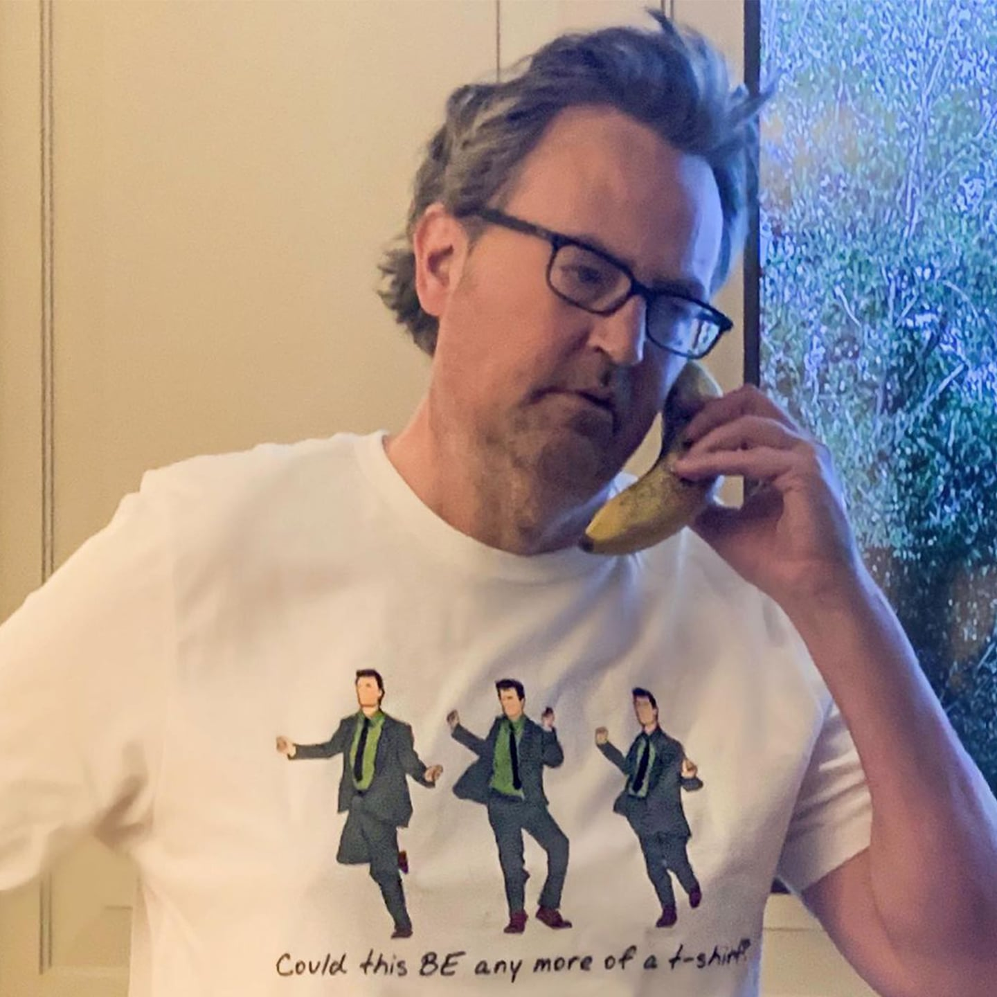 Perry in chandler t-shirt