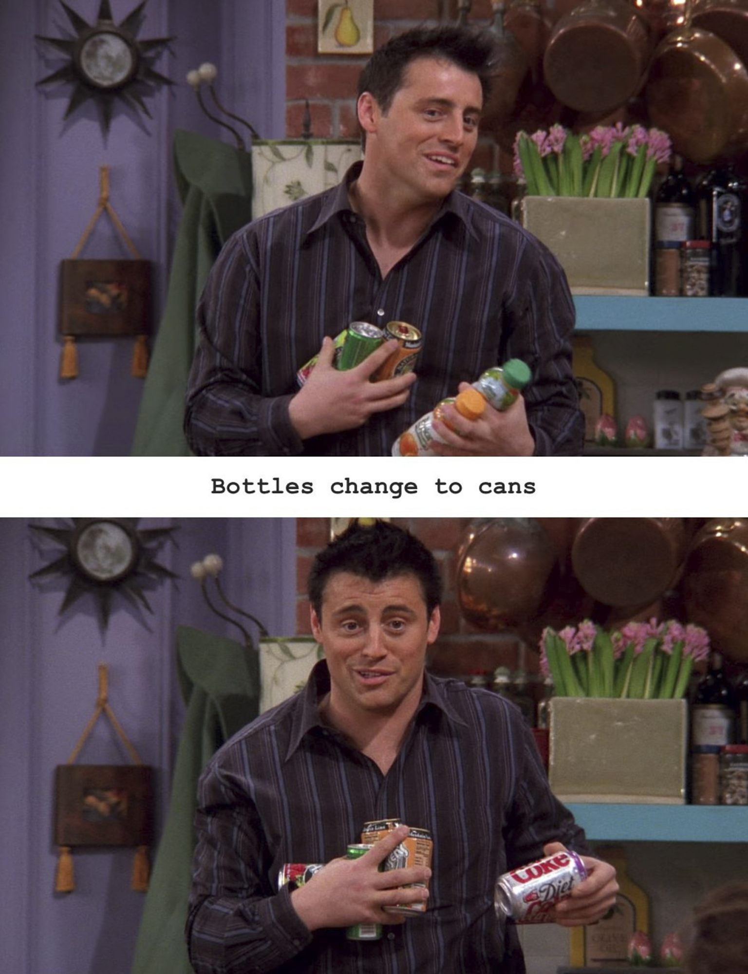 the one with changing cans