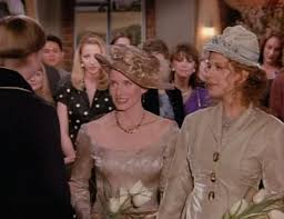 carol and susan in their wedding in friends