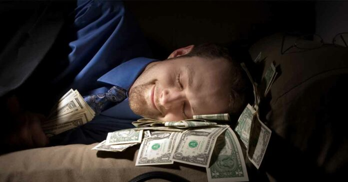 man made money while trying to sleep online