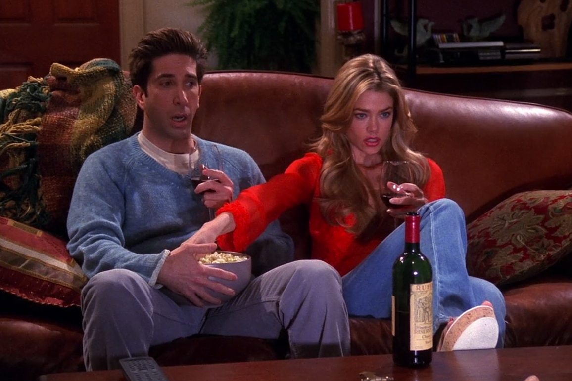 ross with his cousin watching movie