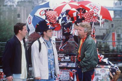 Joey and Chandler in trinity square