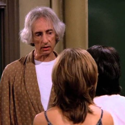 mr heckles with rachel on the friends show