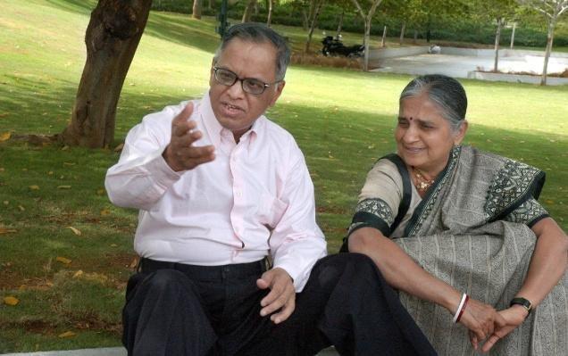 sudha and narayana murthy