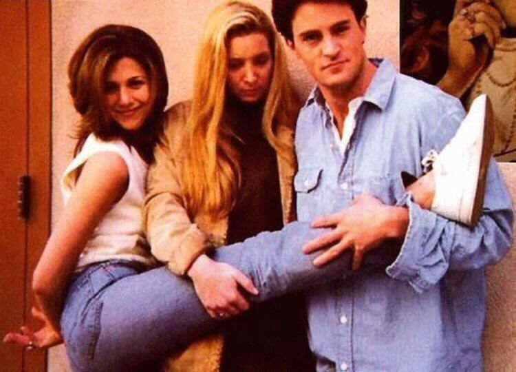 odd photoshoot of friends cast