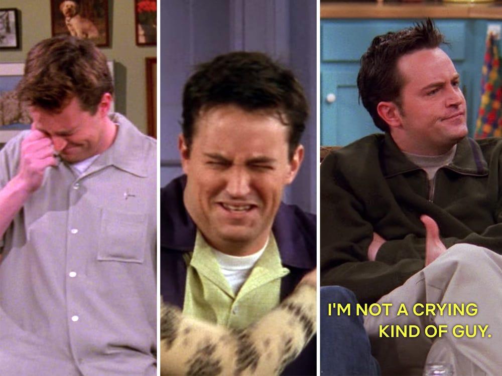 chandler crying