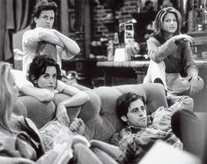 cast chilling out in between the shoots