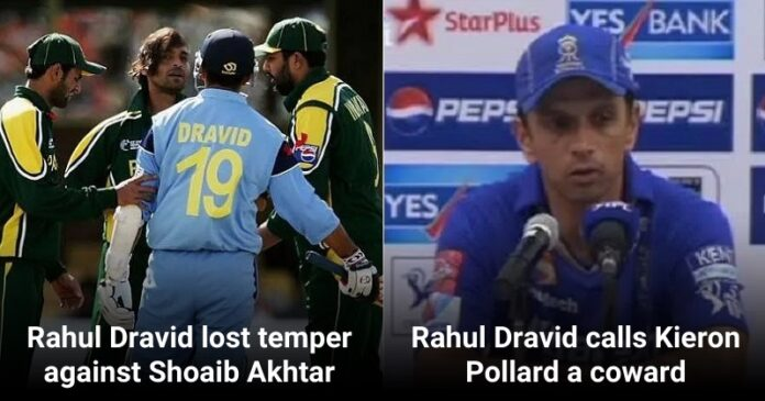 Dravid lost his cool