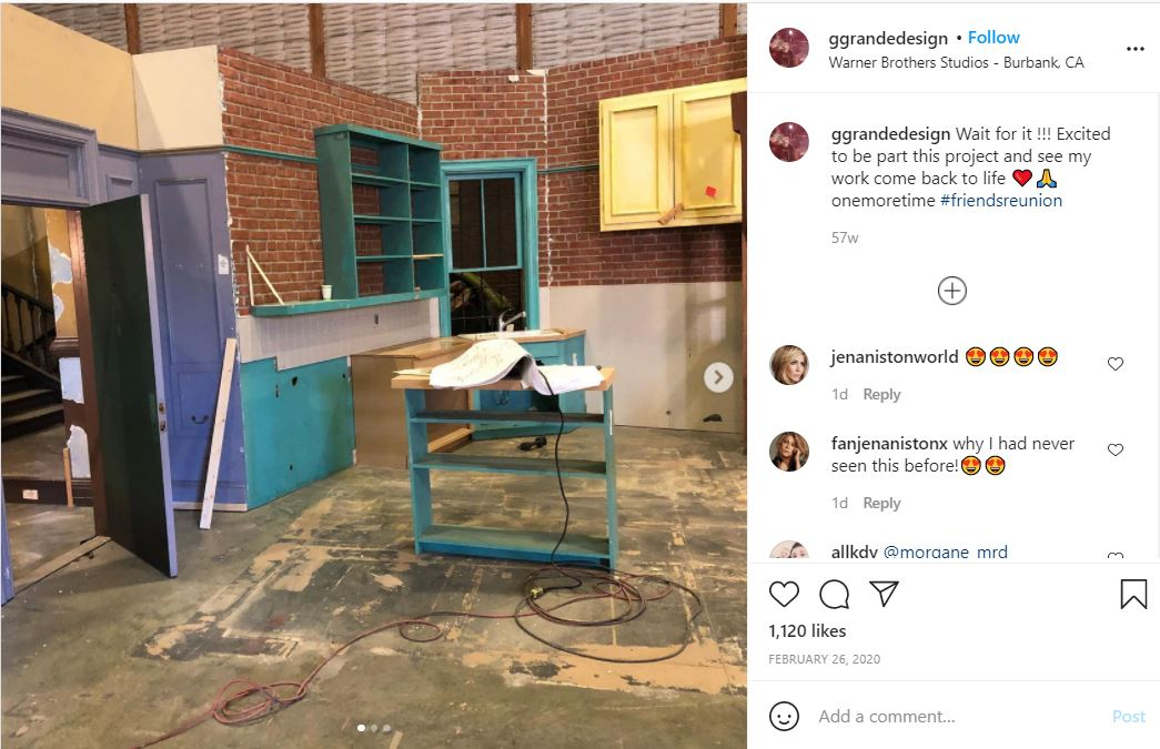 friends show set teased by the set designers from the show