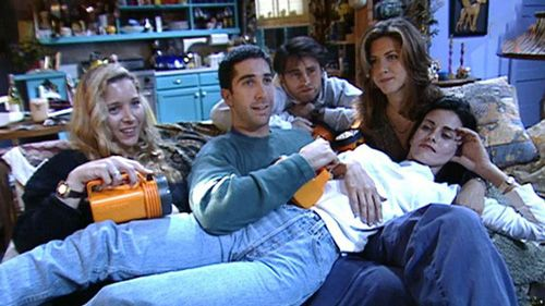 friends cast having fun after the shoots revealed in this backstage photo