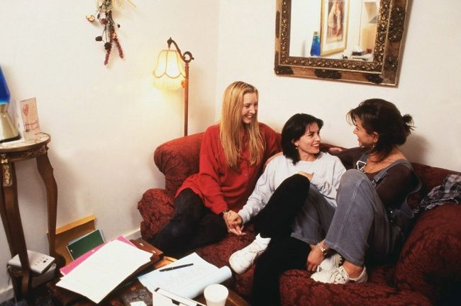 girls from friends hanging out together after the shoot