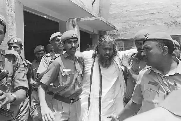 chandra swami with police