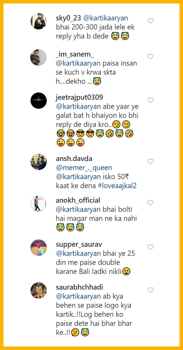 Kartik-Aryan-fan-1-lakh-for-reply-comment-reply-of-kartik-peoples-reaction