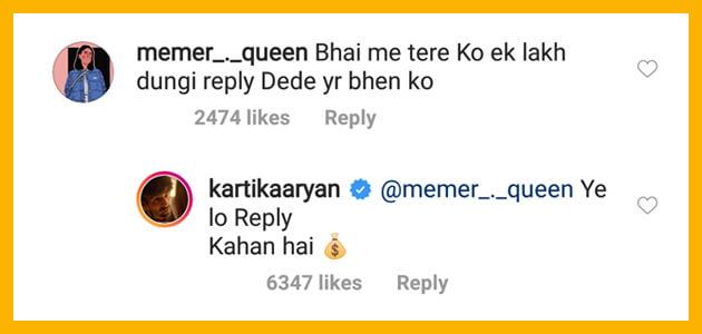 Kartik-Aryan-fan-1-lakh-for-reply-comment-reply-of-kartik