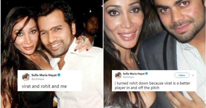 Sofia Hayat intimate relationship with Rohit Sharma