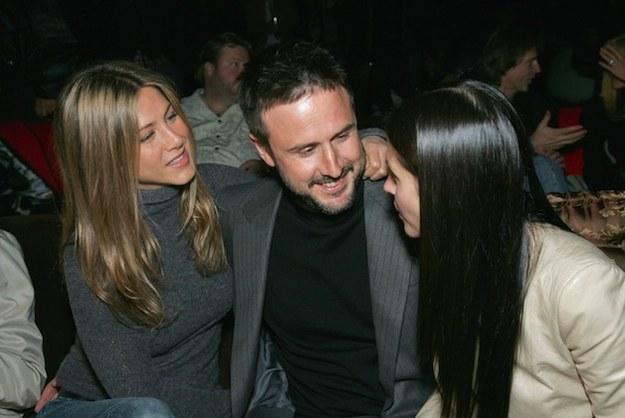 David Arquette, Jennifer Aniston, and Courteney Cox
