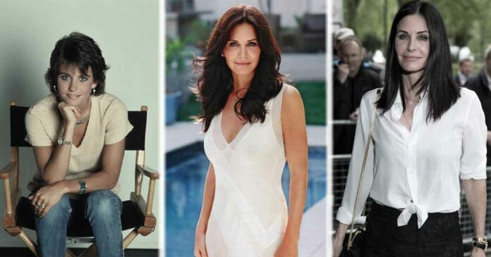 courteney cox three stages of her life