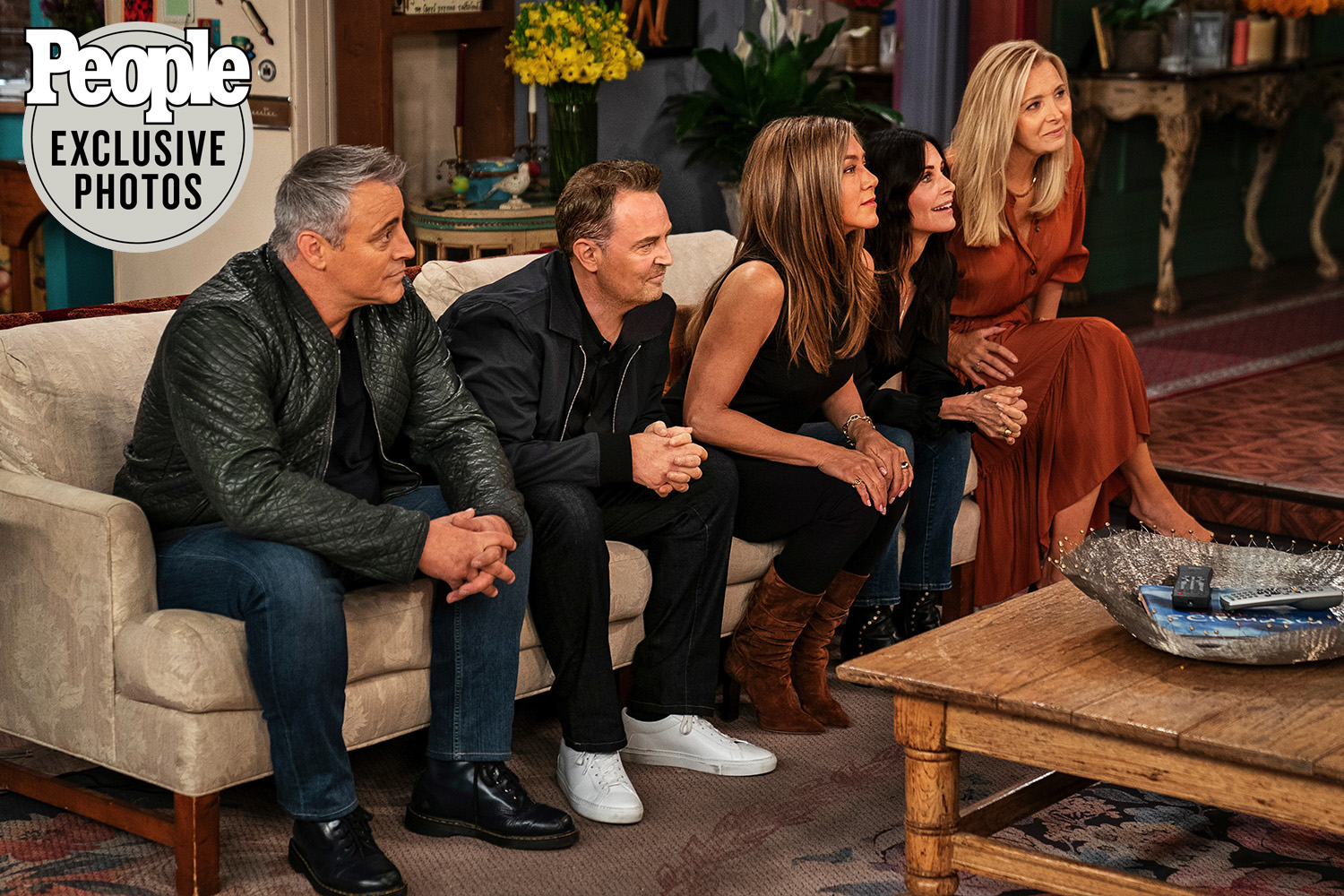 friends cast sitting together for the friends reunion exclusive pics released