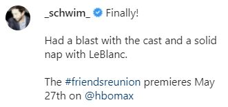david schwimmer reveals details about the friends reunion