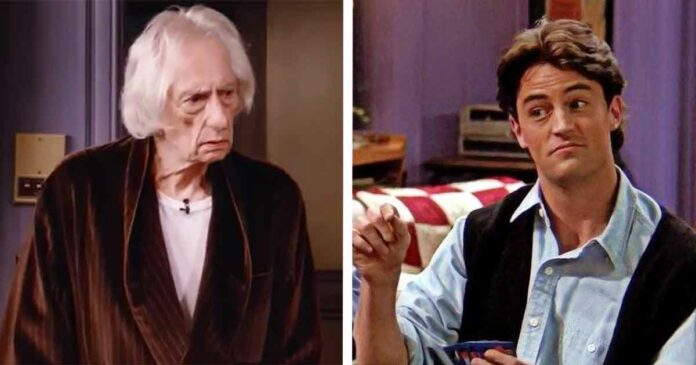mr heckles and chandler bing from friends