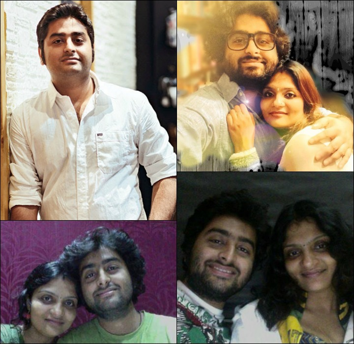 Arijit Singh with the wife, Koel Roy