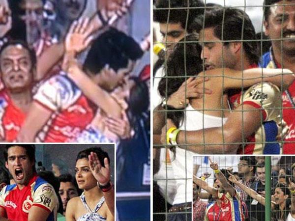 Kiss Of Deepika Padukone And Siddharth Mallya