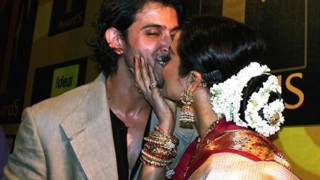 Kiss Of Hrithik Roshan And Rekha