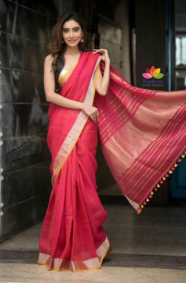 clicking pictures with a floating saree pallu