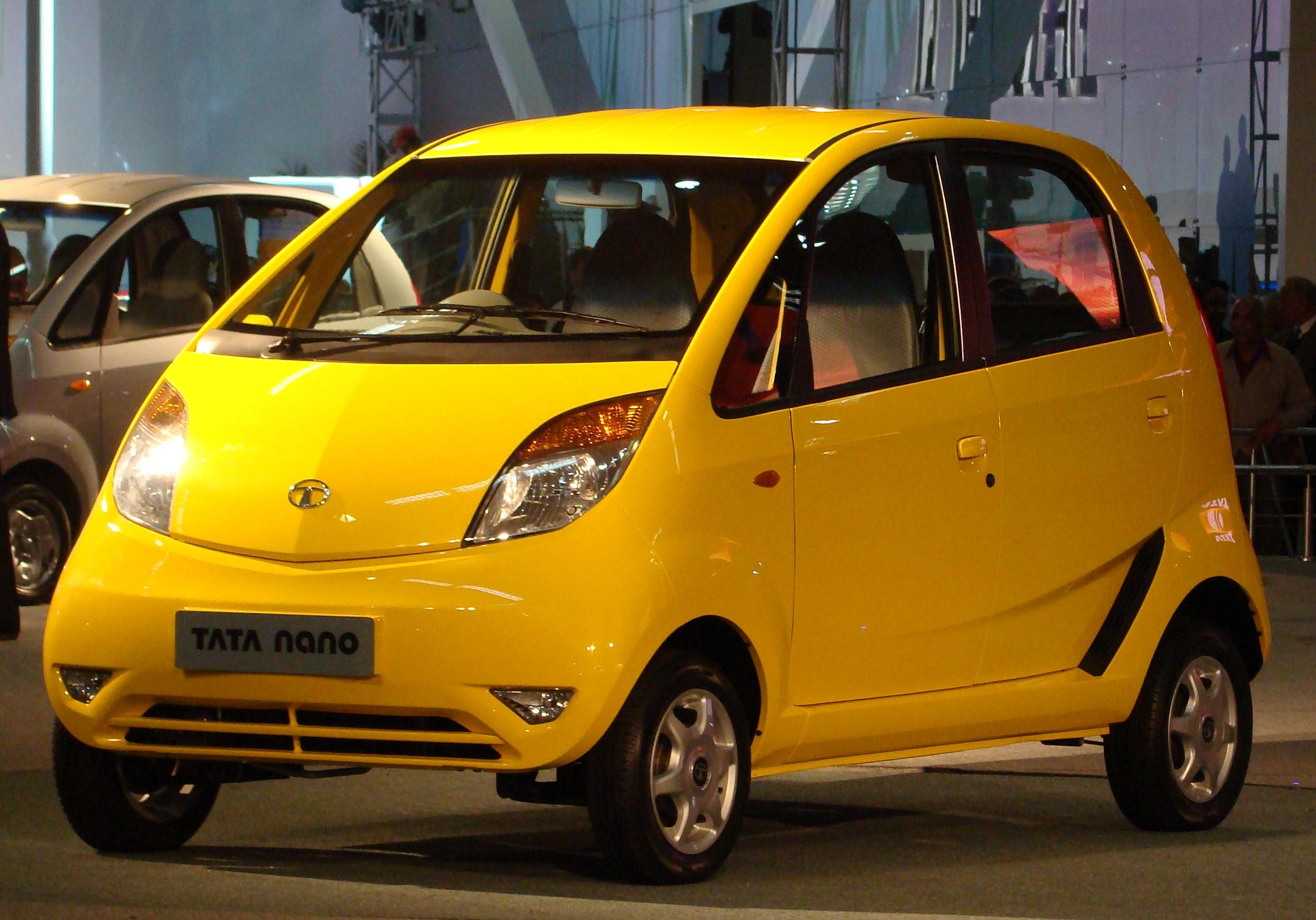 Tata Nano in Yellow color