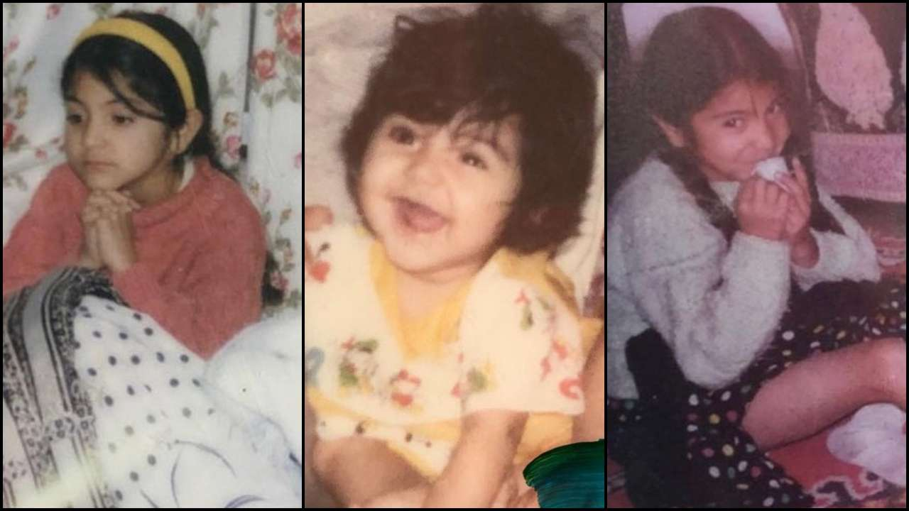 anushka sharma-childhood photos