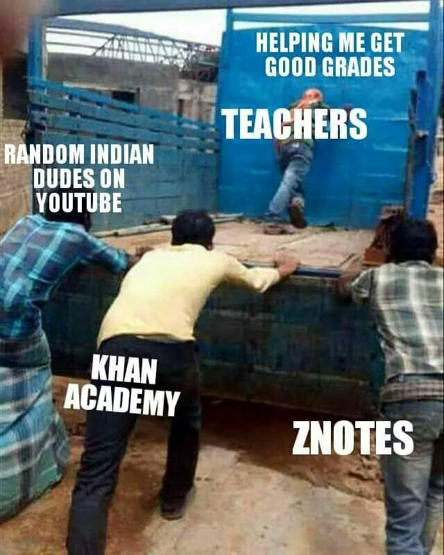 college meme about school grades