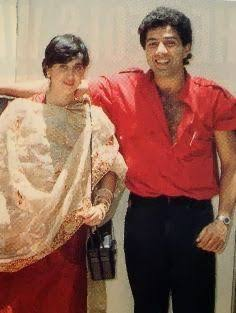 young photo of Sunny and Pooja Deol after marriage a long time ago