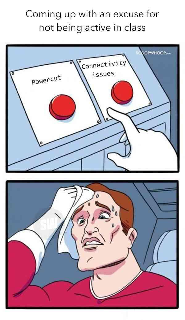 online school meme about excuses