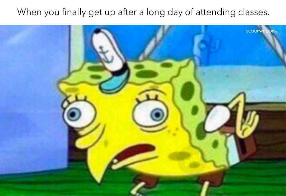 online school meme about attendence