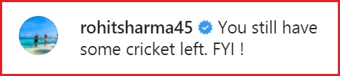 rohit-sharma comment
