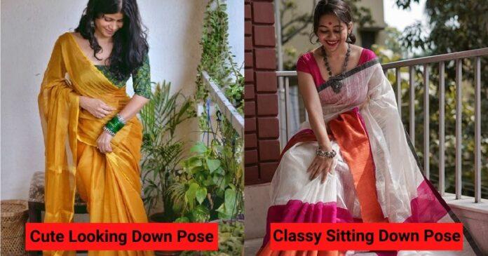 Instagram saree poses for girls