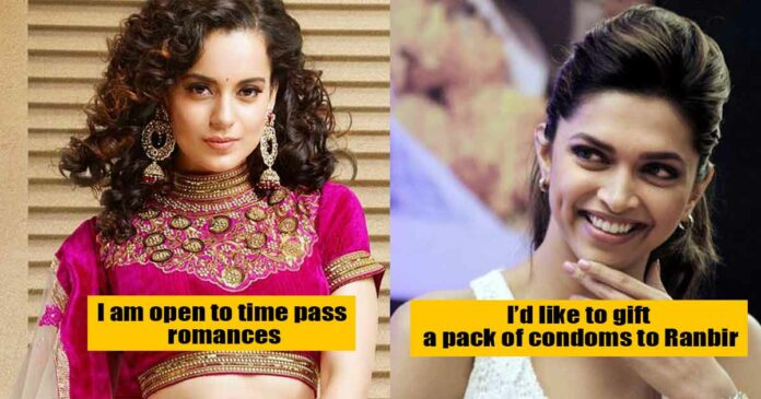 bold lines said by actresses from bollywood