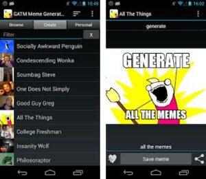 GATM meme creator app