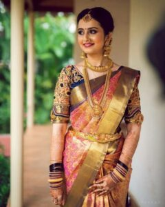 saree poses with face tilted