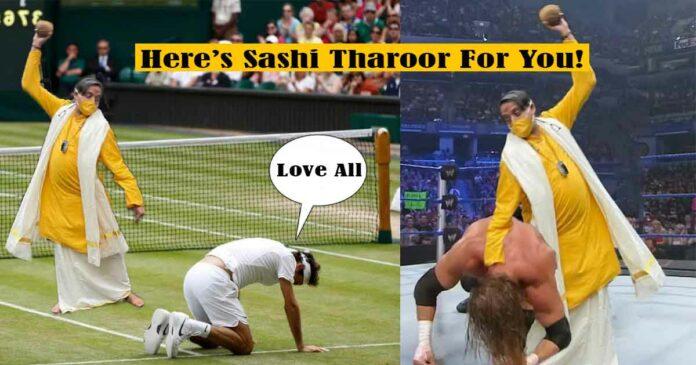 memes on sashi tharoor wearing yellow dress in onam
