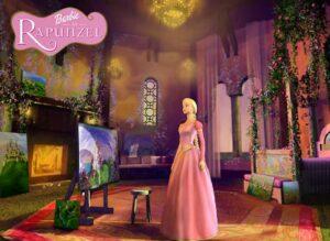 Barbie as Rapunzel on barbie movies in hindi list