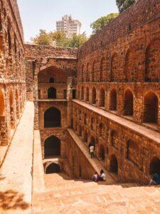 Agrasen ki Baoli, is a mosaic of diverse stones and rocks