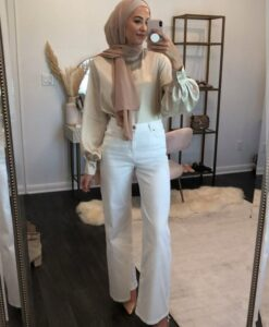 hijab with bellbottoms