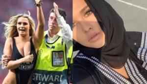 kinsey wearing Kashmir hijab
