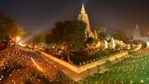 Mahabodhi temple is famous