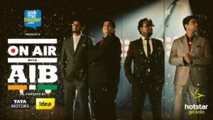 on air with AIB hotstar